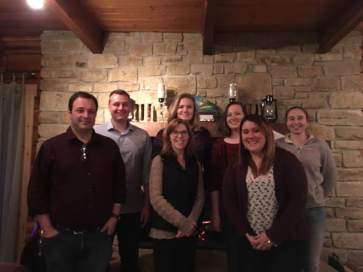 Lab photo from the 2016 Demas lab Christmas party.