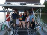 Summer pontoon boat party with the Demas, Smith, Hurley, and Rosvall labs.