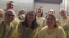 Lab photo up in animal quarters!