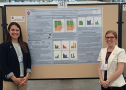 Emma and Kristyn present their research at the 2016 Experimental Biology conference in San Diego, CA.