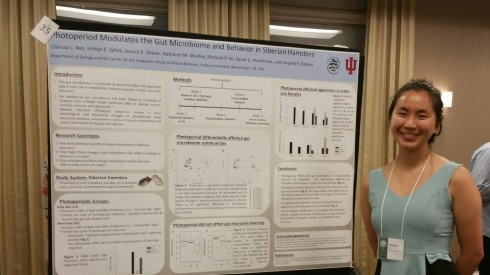 Clarissa presents her research at the 2018 IU Hutton Honors College Symposium.