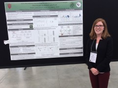 Kristyn presents a poster at the 2018 Experimental Biology conference in San Diego, California.