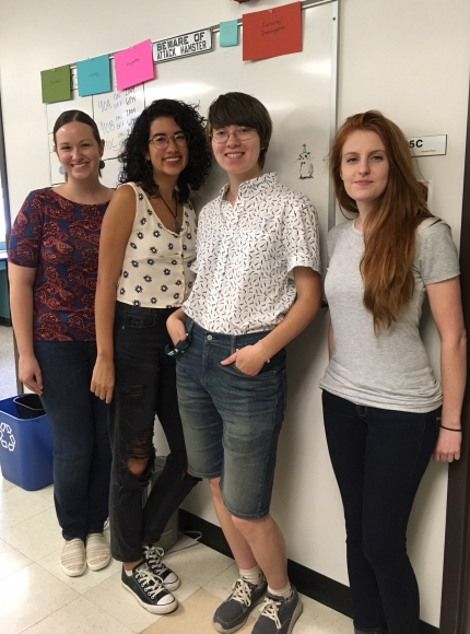 Kat and Beth host undergraduate students Desiree and Ayley for the 2018 CISAB Research Experience for Undergraduates (REU) program.