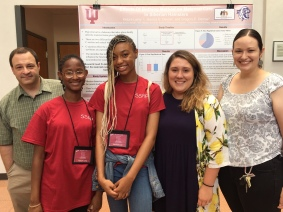 Kat and Jessica host high school students Kennedi and Ketura for the 2019 Jim Holland Summer Science Research Program.
