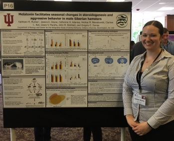 Kat presents her research at the 2019 Society for Behavioral Neuroendocrinology meeting.