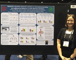 Kat presents her research at Neuroscience 2019 in Chicago, Illinois.
