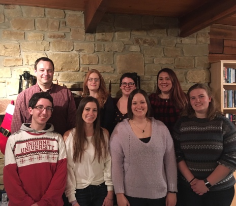 The Demas lab enjoying the holidays at the 2019 Christmas party!